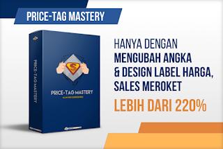 Hanya dengan merubah angka dan desain label harga maka penjualan akan meroket
