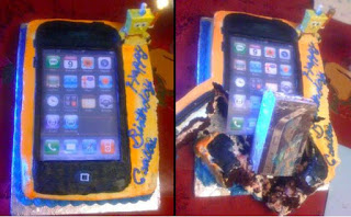 kue ulang tahun iphone rusak