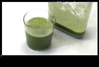 zumo verde de fibra