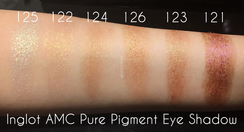 nglot Cosmetics The Star In You Collection AMC Pure Pigment Eyeshadow Swatches