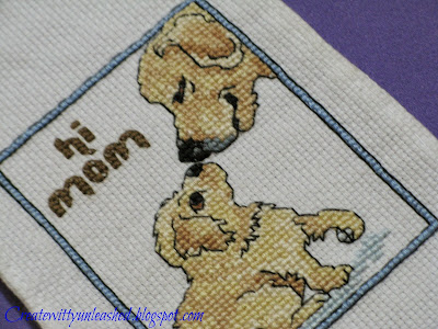 Cross stitch puppy