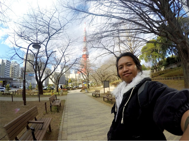Taken at Shiba Park with Tokyo Tower As Background