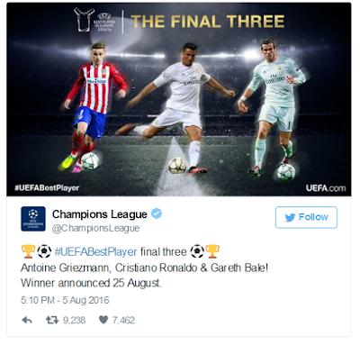 nominasi pemain terbaik Eropa 2015/16