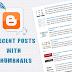 cara membuat widget recent post atau artikel terbaru dengan thumbnail