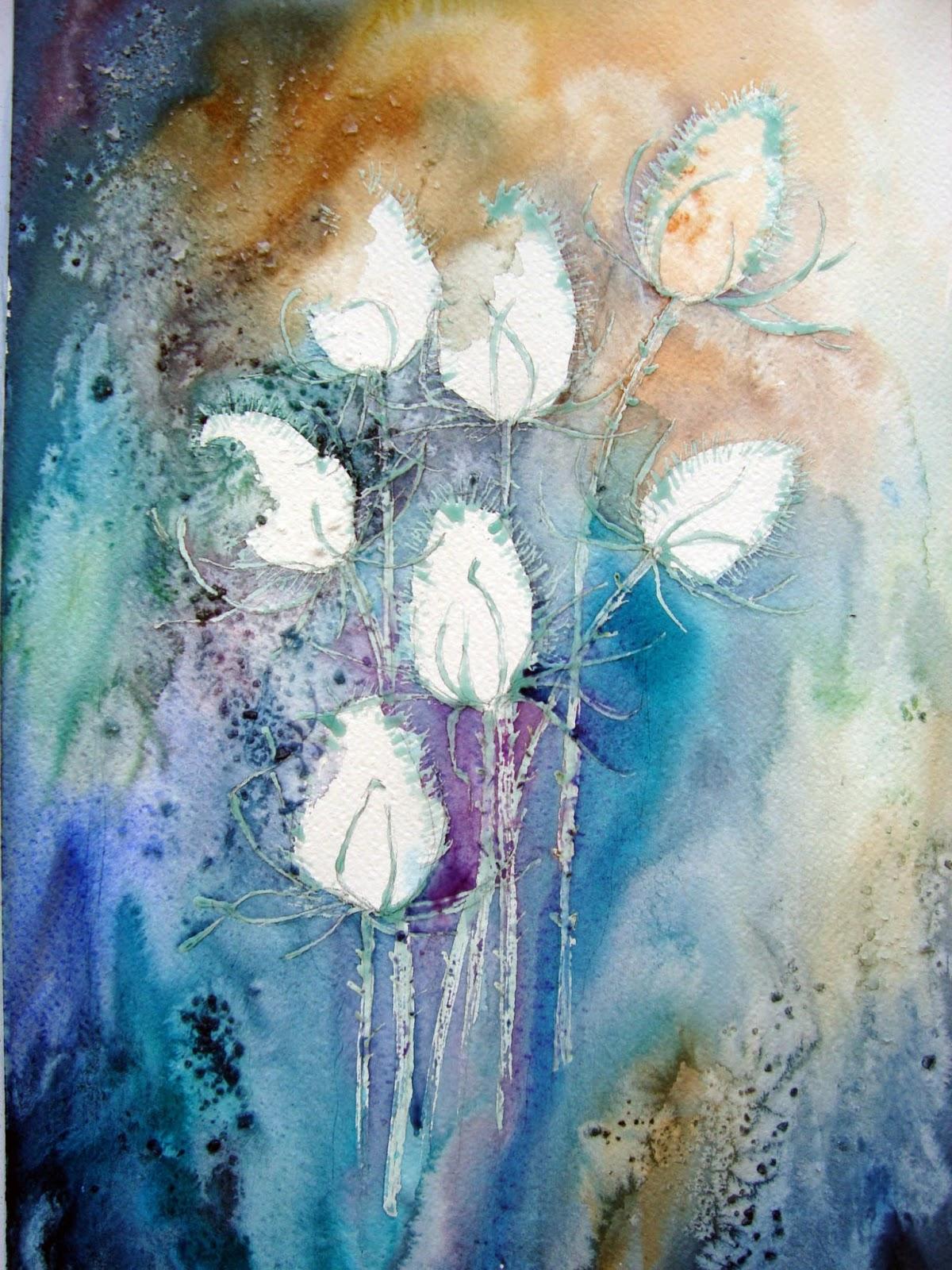 Watercolour Florals Teasels