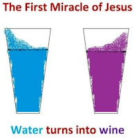 The First Miracle of Jesus, water turns into wine in the wedding at cana
