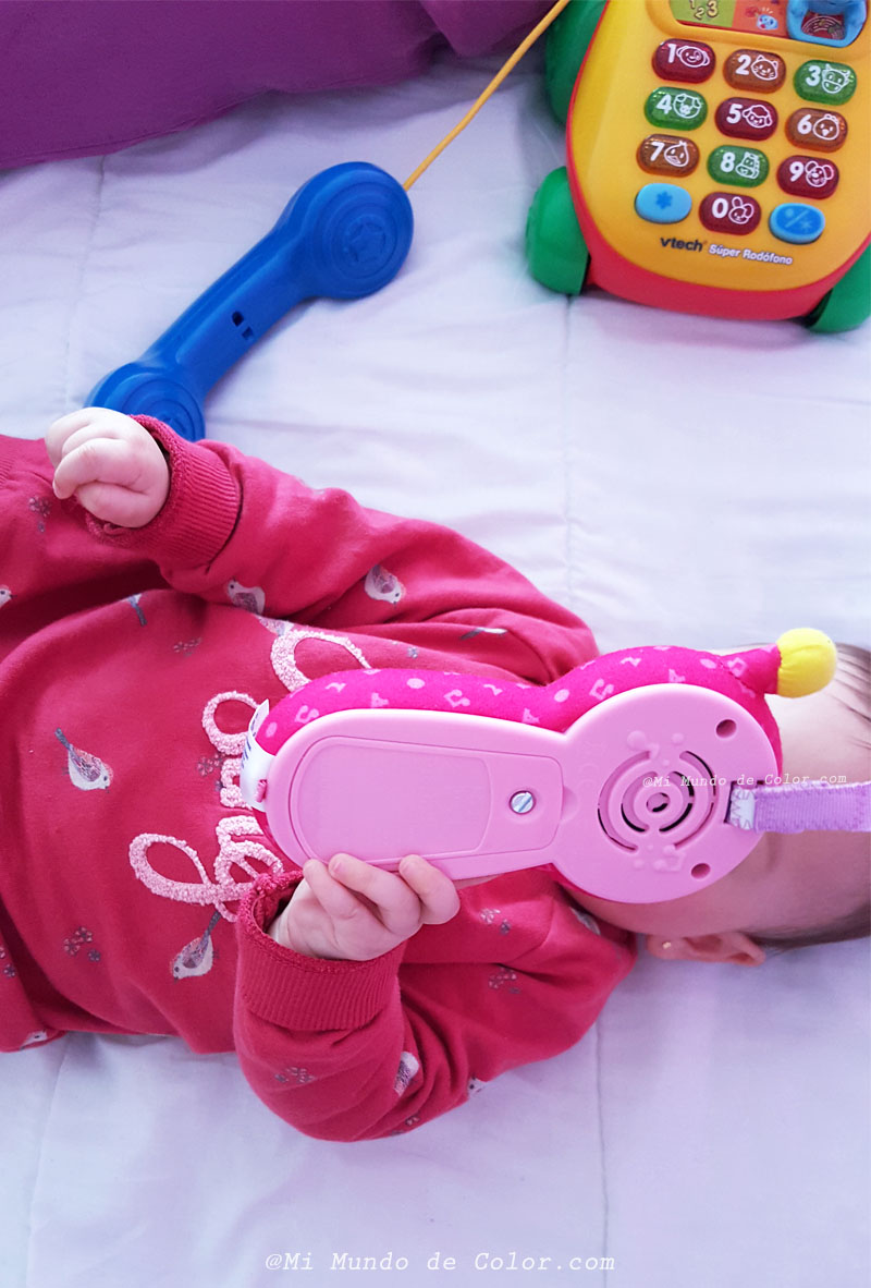 super rodofono y baby movil rosa de vtech