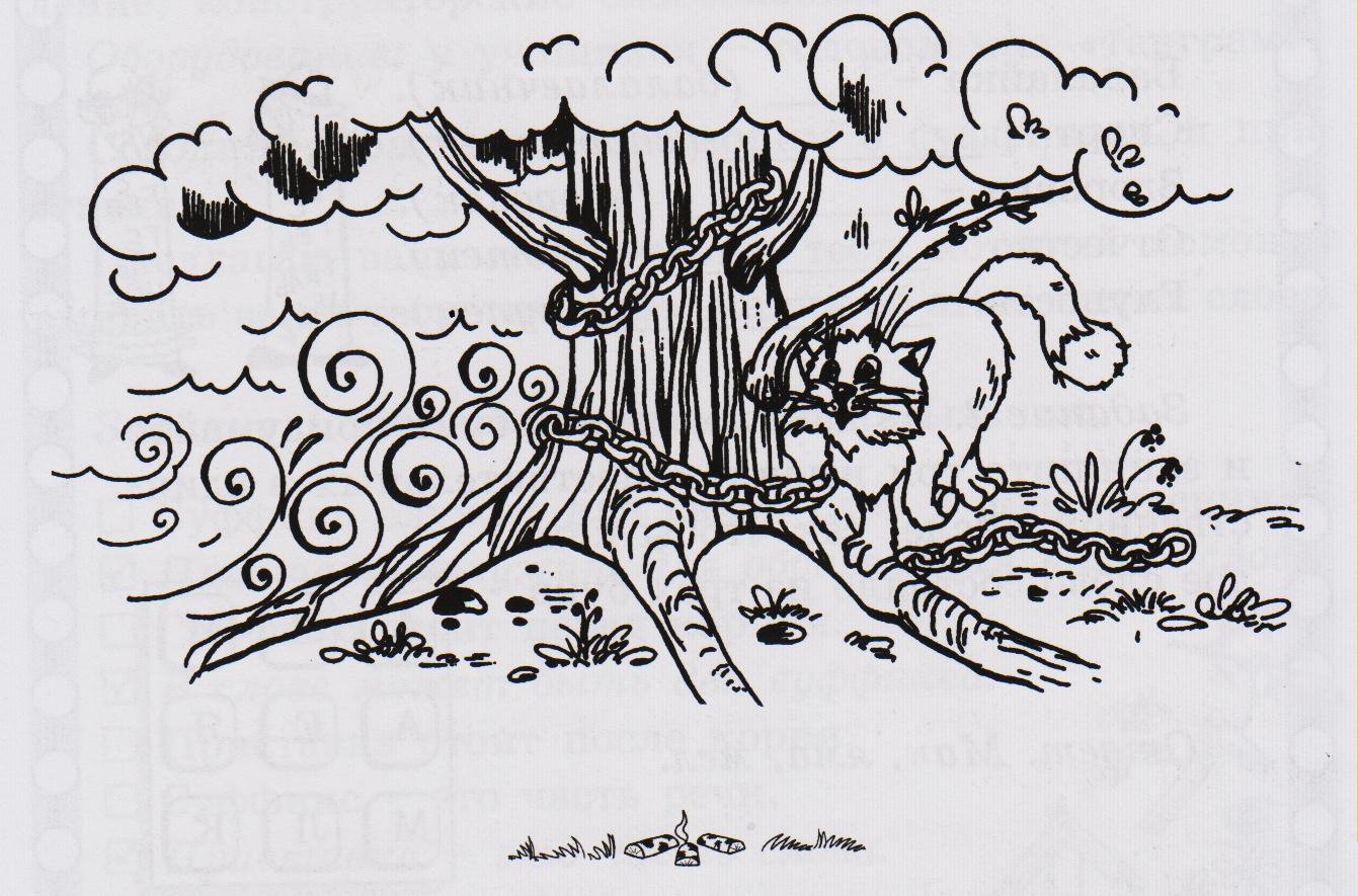 Кот ученый рисунок раскраска