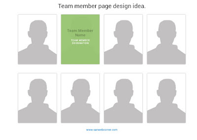 Our Team Page Design idea