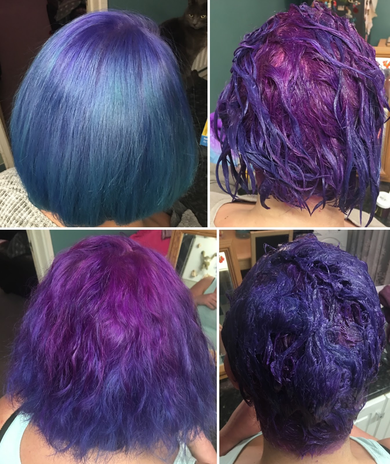 turquoise to purple mermaid unicorn hair