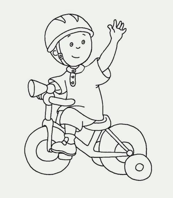 Print Free For Children About Activities Caillou Coloring