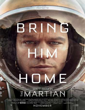Poster Of The Martian 2015 Dual Audio 180MB BRRip HEVC Mobile ESubs - EXTENDED Free Download Watch Online Worldfree4u