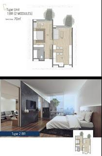 Type 2BR Apartemen Carstensz BSD City Serpong