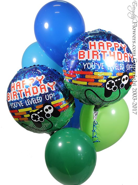 Video Game Birthday Balloons by Everyday Flowers