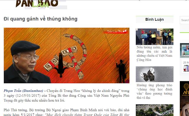 tổng bí thư Nguyễn Phú Trọng sang Trung Quốc