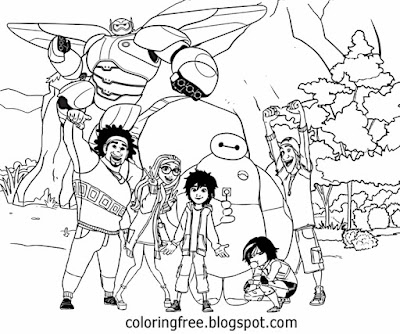Cool teenage sketch designs Big Hero coloring pictures superhero cartoon Disney characters to color