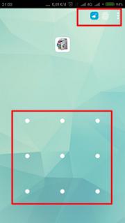 Masukkan pola atau tempelkan sidik jari untuk masuk ke Applock