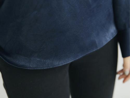 Shiny Fleece Blouse
