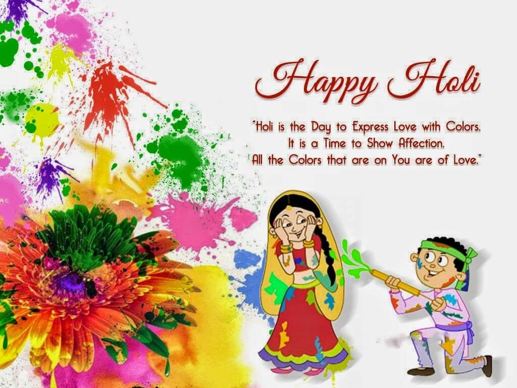 Happy Holi Wishes Quotes SMS Greetings MSG in English