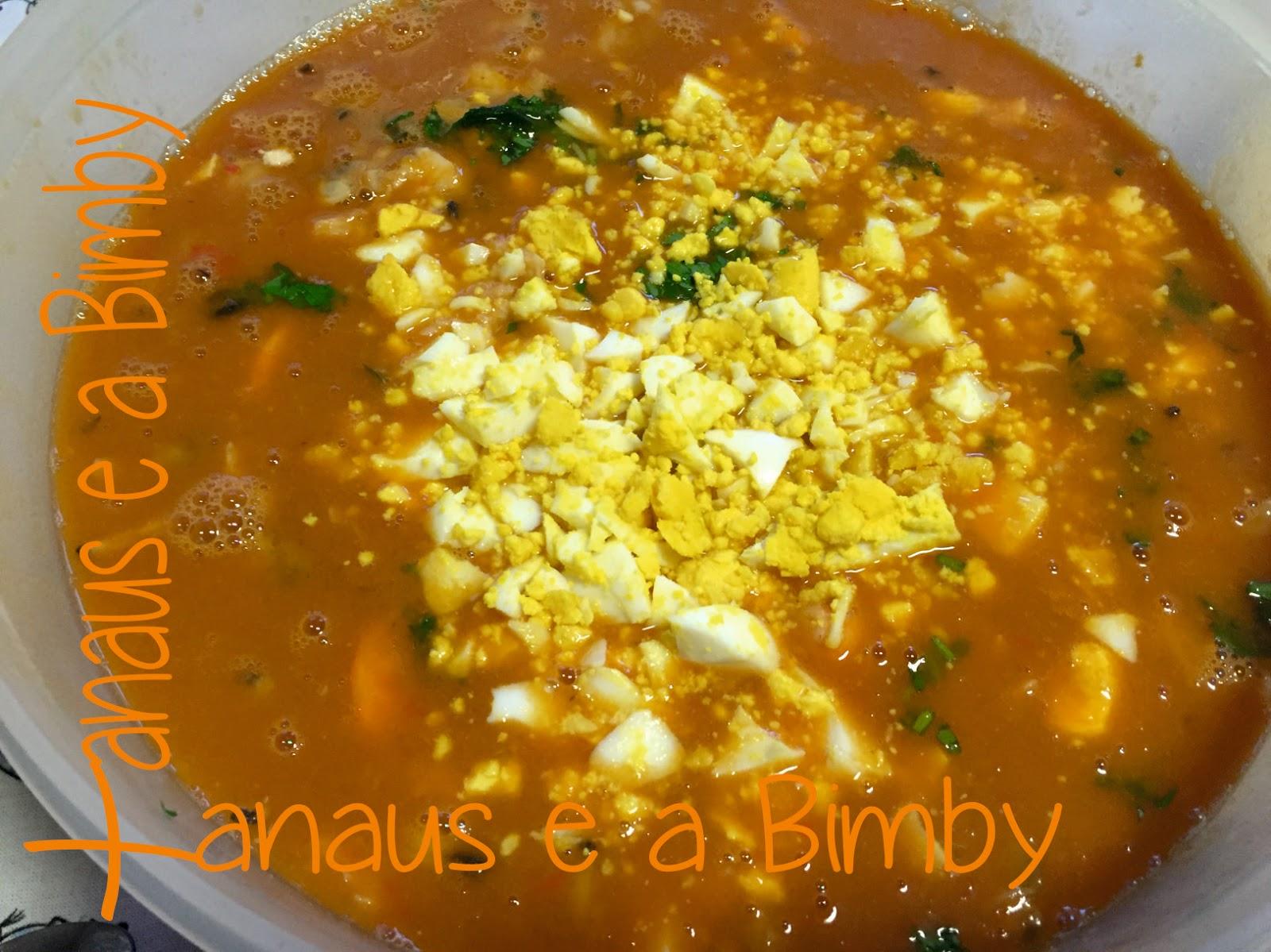 Sopa de Peixe na Bimby