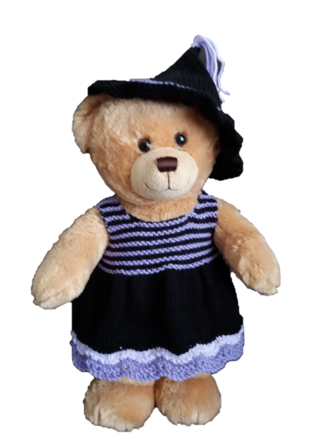 Linmary Knits: Teddy Bear Halloween dress and hat