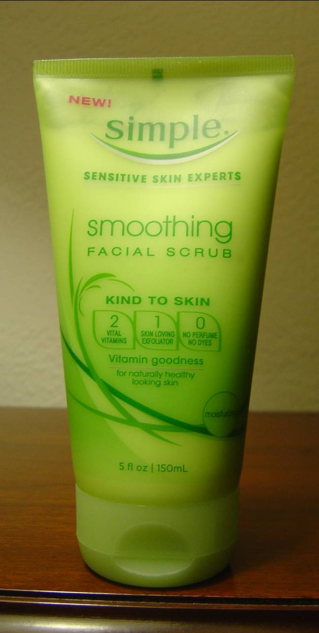 Simple Skincare Review: Smoothing Facial Scrub