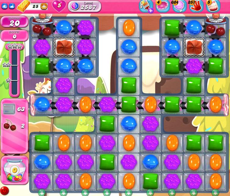 Candy Crush Saga level 2587