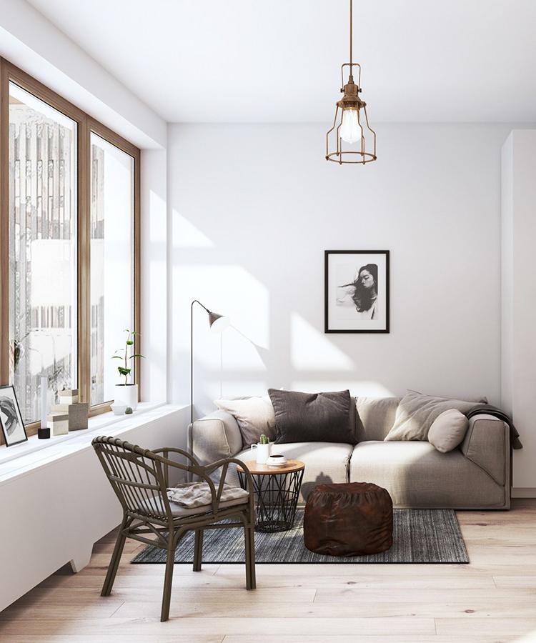 salon contemporain fauteuil en osier