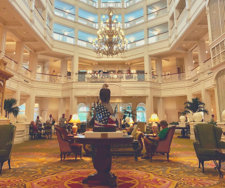 Why Planning Your Days In Walt Disney World Is A Good Thing | Try out the lobby in Grand Floridian for an afternoon chill out.