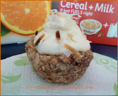 Orange Juice Krispie Cups | www.BakingInATornado.com
