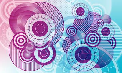 4 pinceles circulares en alta resolución
