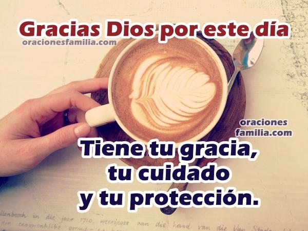 Oración corta de la mañana, buenos días con buena en actitud trabajo o casa, Dios me ayuda, frases cristianas con imágenes de oraciones de buen día por Mery Bracho