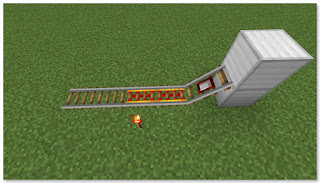 Minecraft 高速トロッコ輸送 アイテム積み込み駅 作り方②