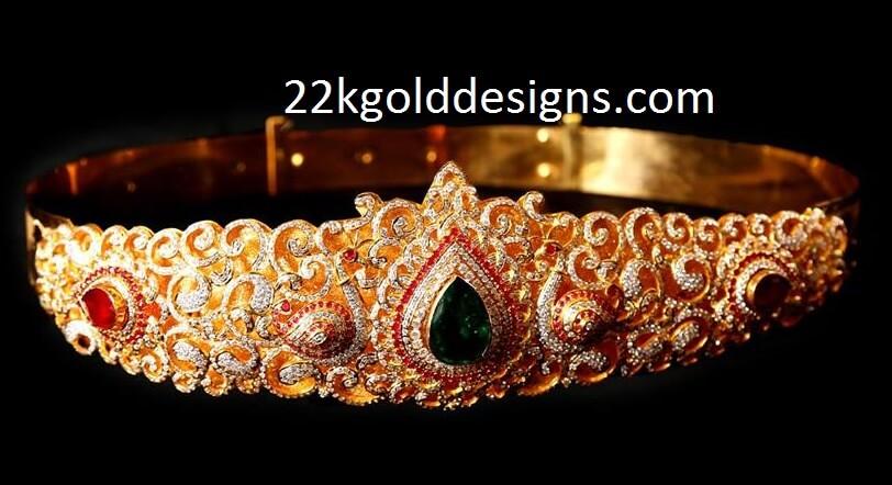 Latest Design Peacock Vaddanam design