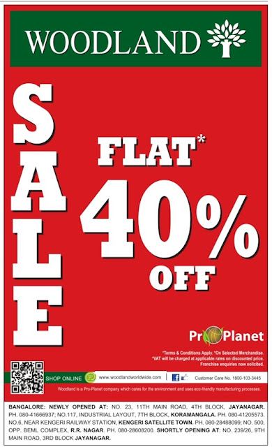 Woodland Flat 40% | December 2016 christmas discount offer