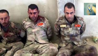 Άνδρες των τουρκικών ειδικών επιχειρήσεων που συνελήφθησαν στο Κομπάνι να δρουν μαζί με τους τζιχαντιστές