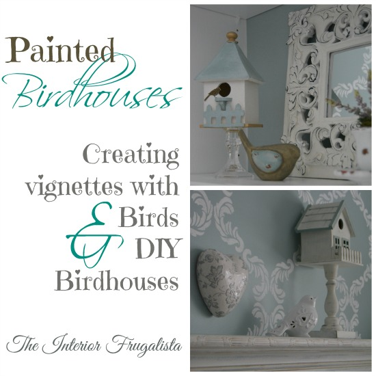 Decorating with DIY Painted Birdhouses