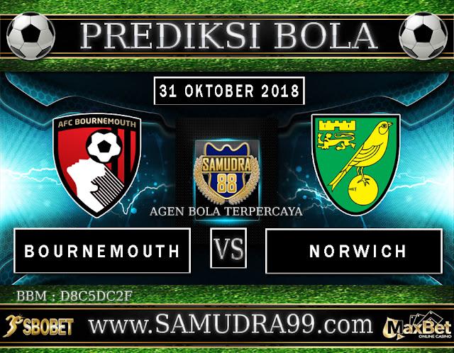 PREDIKSI TEBAK SKOR JITU BOURNEMOUTH VS NORWICH 31 OKTOBER 2018