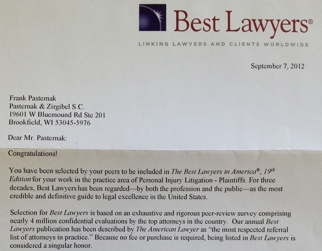 Wisconsin Personal Injury Lawyers Blog: The Best Lawyers in America