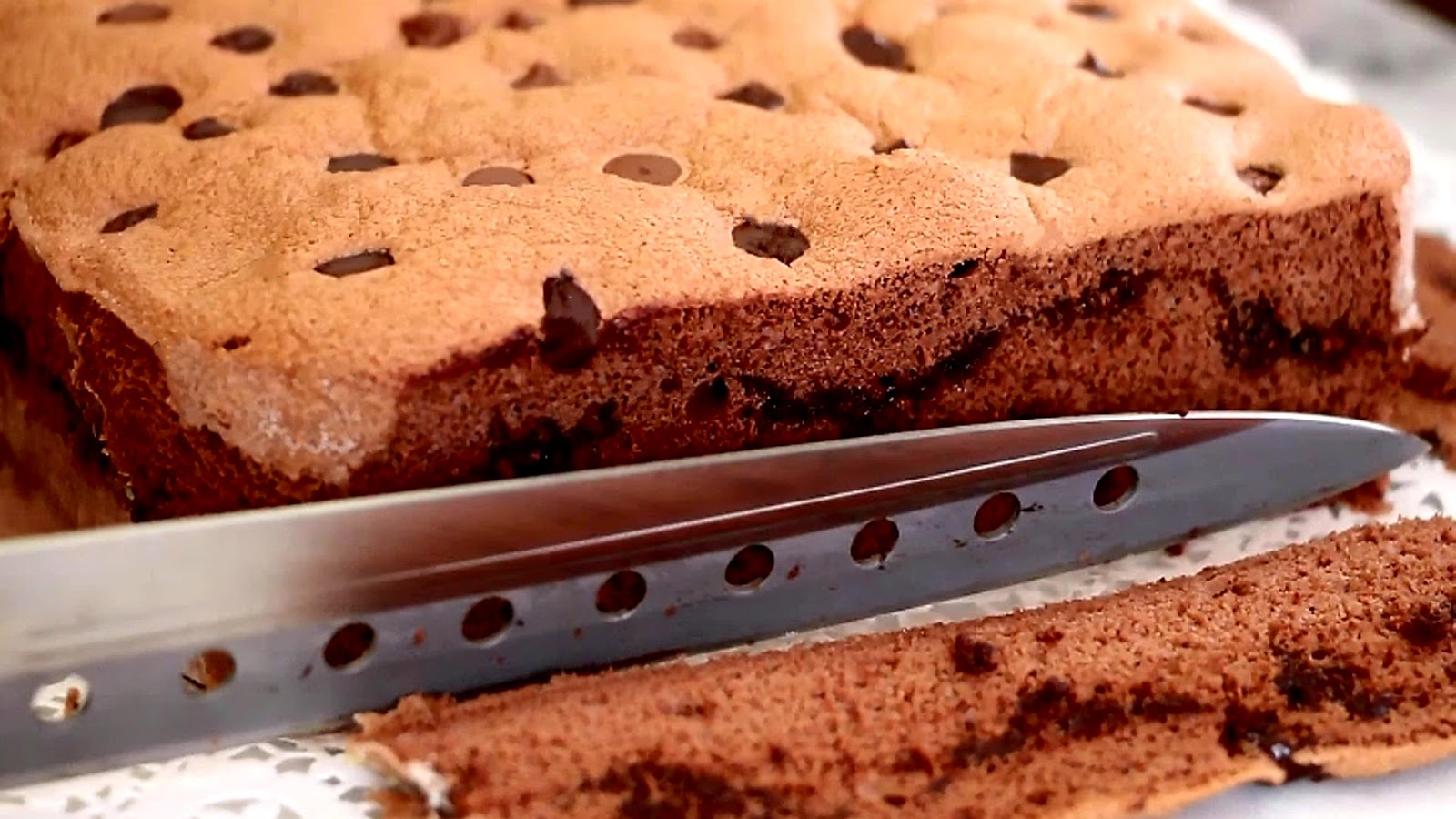 Josephine s recipes chocolate chip sponge cake 古早味巧克力棉花蛋糕