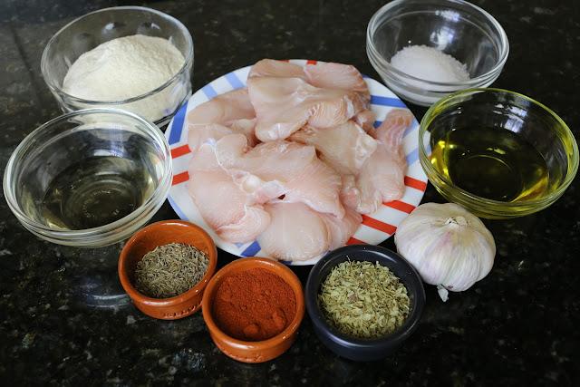 Ingredientes para cazón en adobo