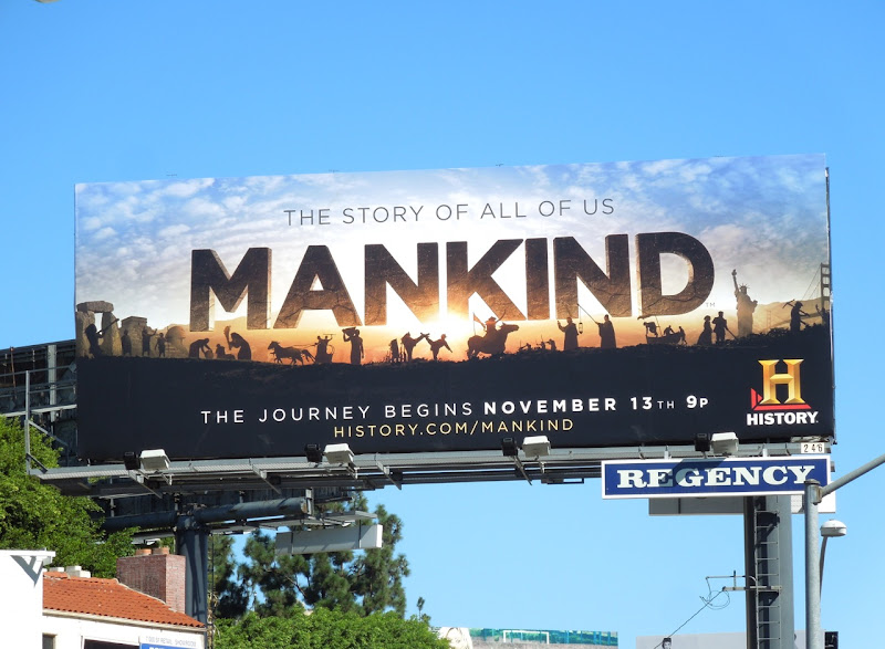 Mankind History Channel billboard