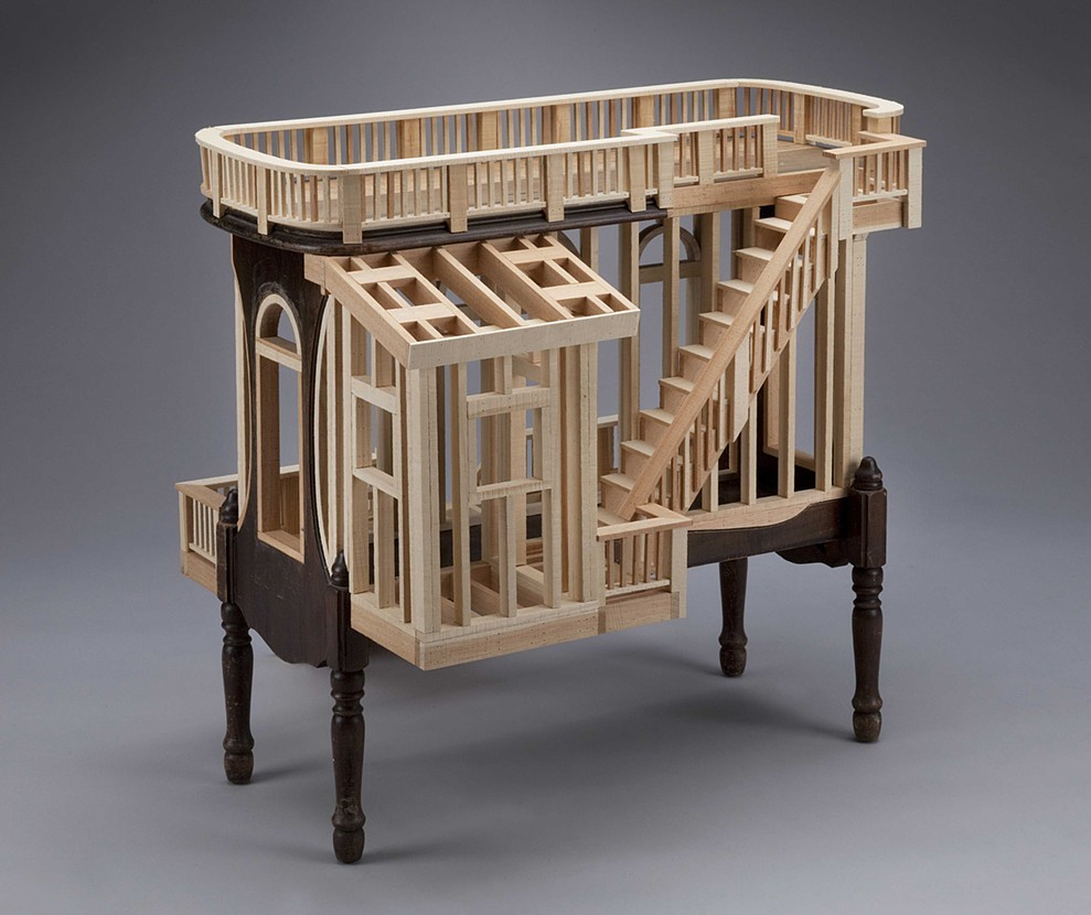 01-Habitation-Ted-Lott-Architecture-in-Upcycled-Furniture-and-Suitcase-Sculptures-www-designstack-co