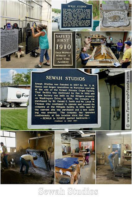 Sewah Studios in Marietta, Ohio manufactures historical markers.