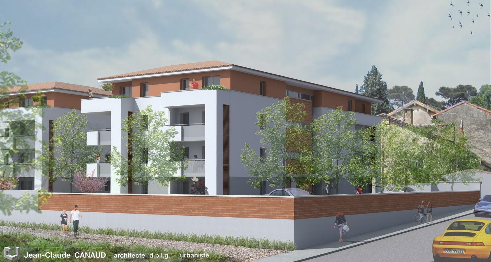 canaud architecte projet de logements collectifs gard. Black Bedroom Furniture Sets. Home Design Ideas
