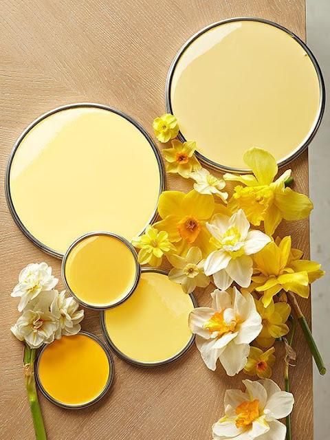 monochromatique jaune décor