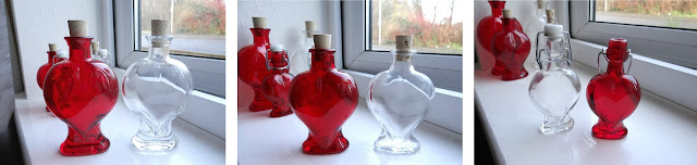 heart shape bottle, message in a bottle, glass bottle