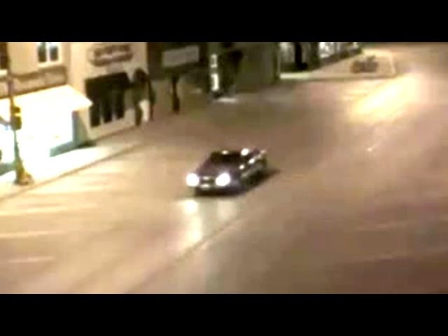 Car Abducted By Aliens Caught On Security Camera