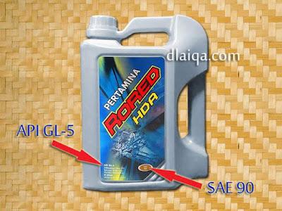 Pertamina Rored HDA API GL-5 SAE 90
