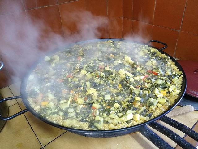 Curso de cocina con paella vegetariana